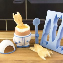 August Boutique Eggstronaut egg cup and toast cutter